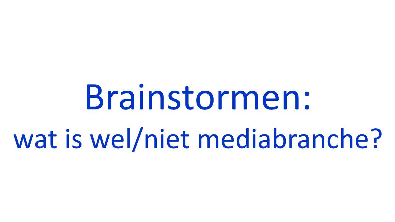 Brainstormen: wat is wel/niet mediabranche?