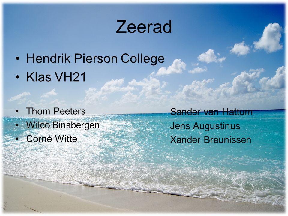 Zeerad Hendrik Pierson College Klas VH21 Thom Peeters Wilco Binsbergen Cornè Witte Sander van Hattum Jens Augustinus Xander Breunissen
