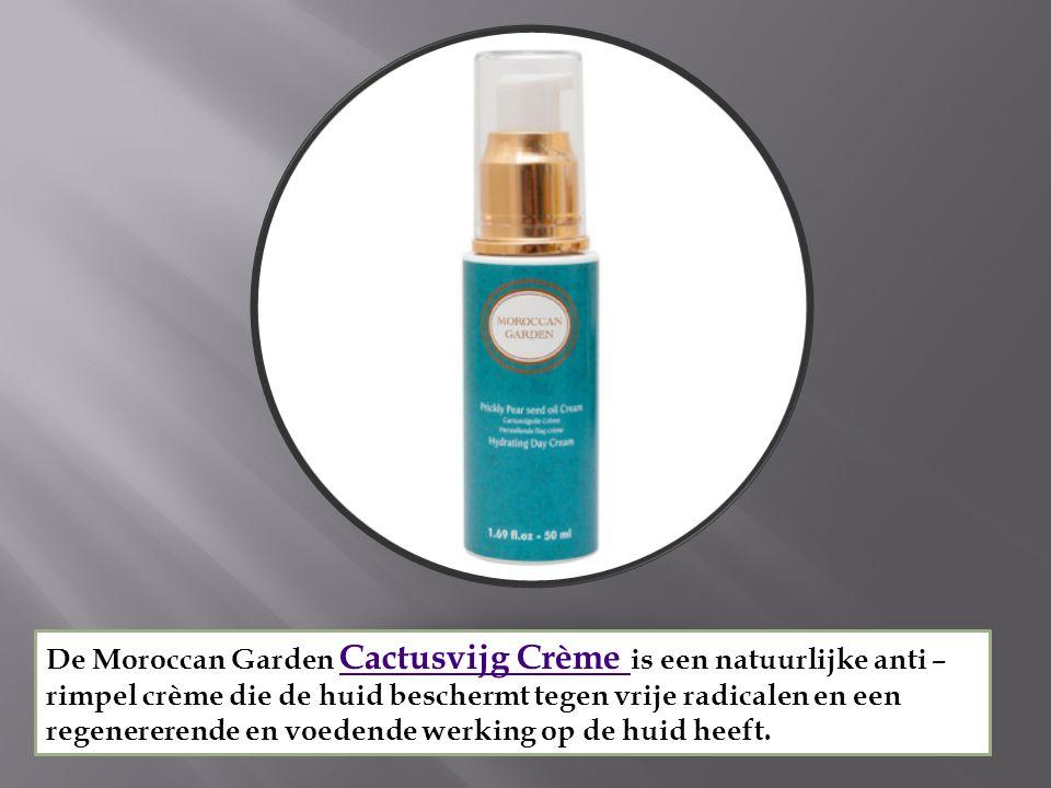 De Moroccan Garden Cactusvijg Crème is een natuurlijke anti – rimpel crème die de huid beschermt tegen vrije radicalen en een regenererende en voedende werking op de huid heeft.