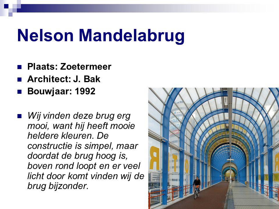 Nelson Mandelabrug Plaats: Zoetermeer Architect: J.