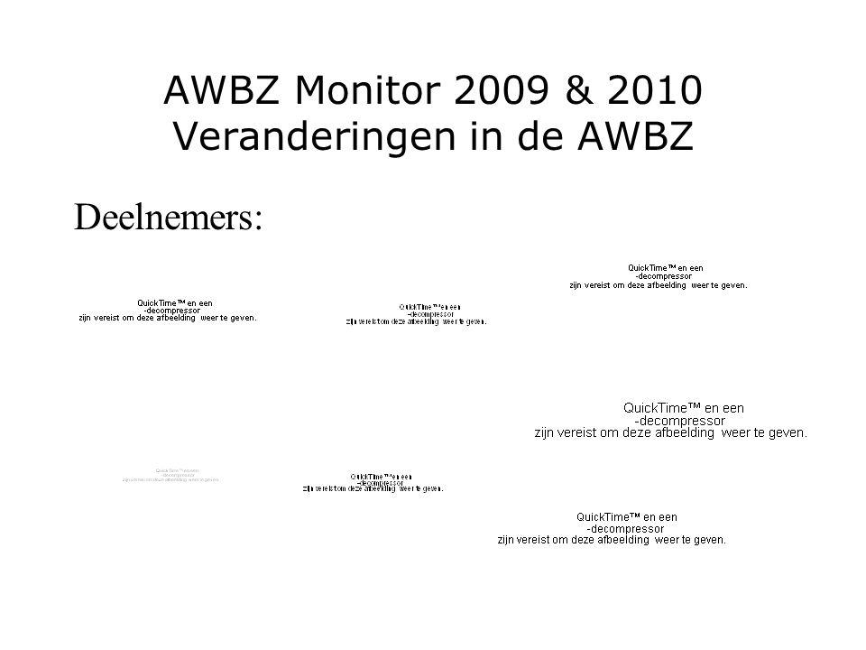 AWBZ Monitor 2009 & 2010 Veranderingen in de AWBZ Deelnemers: