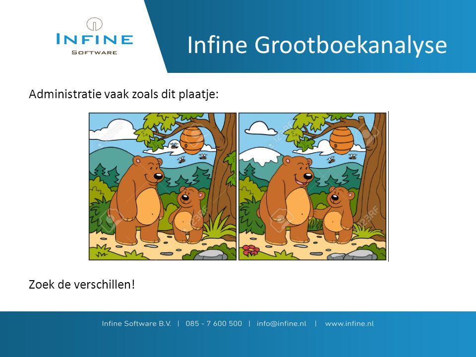 Infine Grootboekanalyse Administratie vaak zoals dit plaatje: Zoek de verschillen!