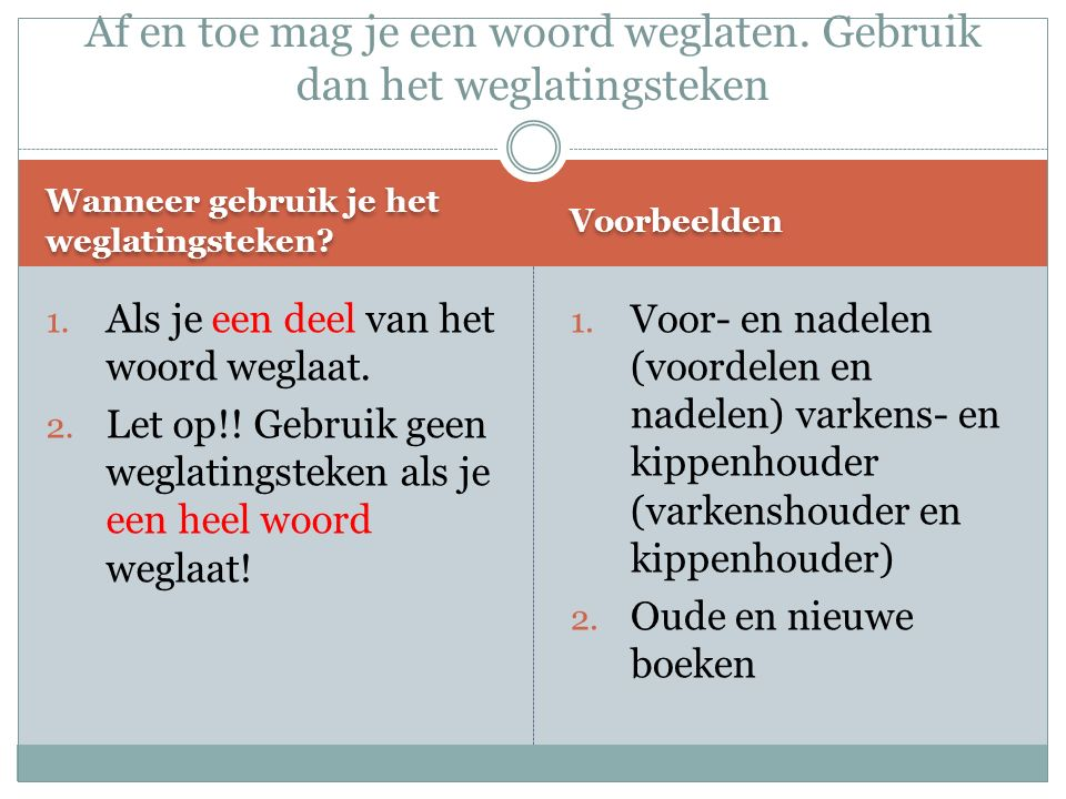 Goed of fout.