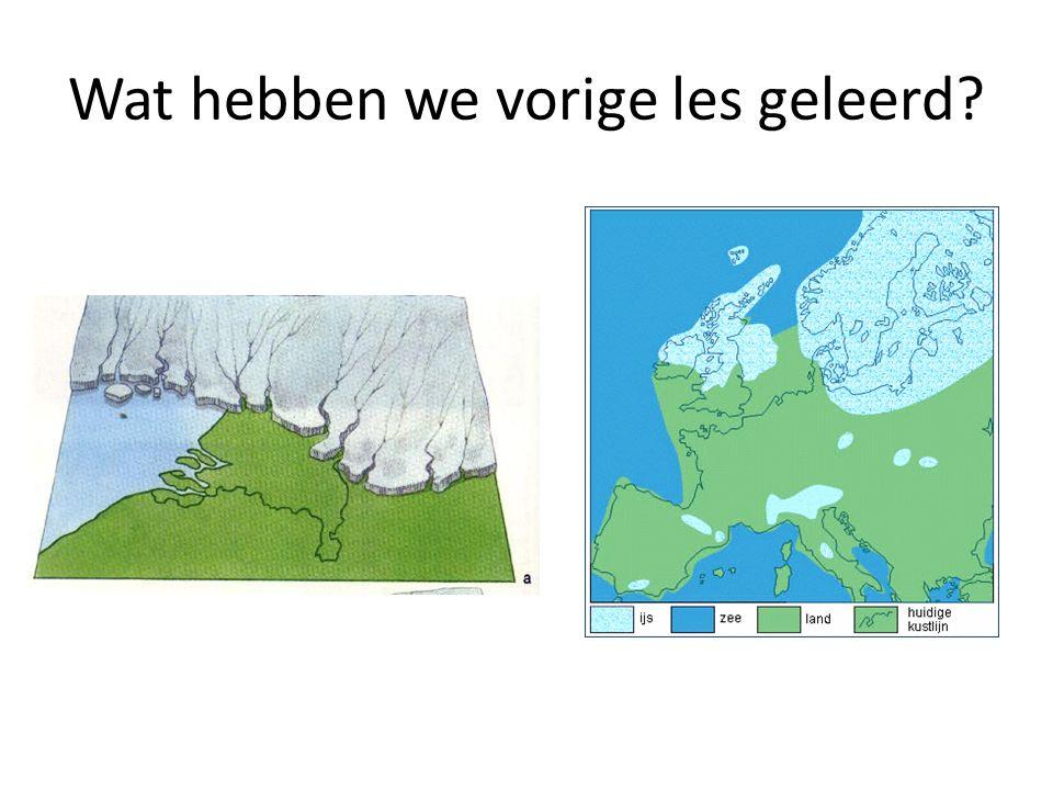 Heel lang geleden was het lang erg koud in Nederland, de ijstijd.