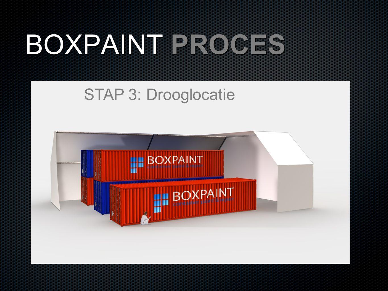BOXPAINT PROCES STAP 3: Drooglocatie