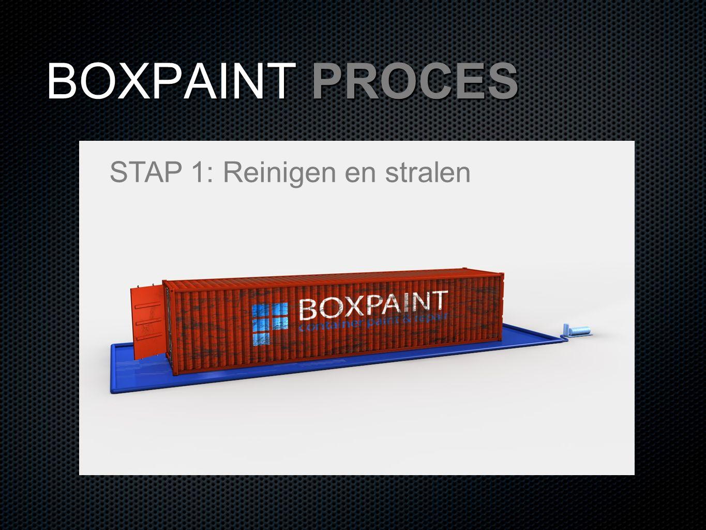 BOXPAINT PROCES STAP 1: Reinigen en stralen