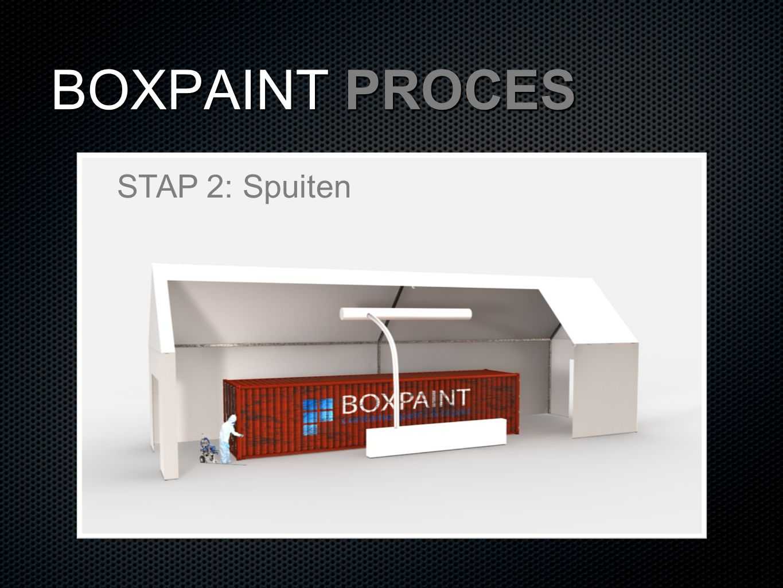 BOXPAINT PROCES STAP 2: Spuiten