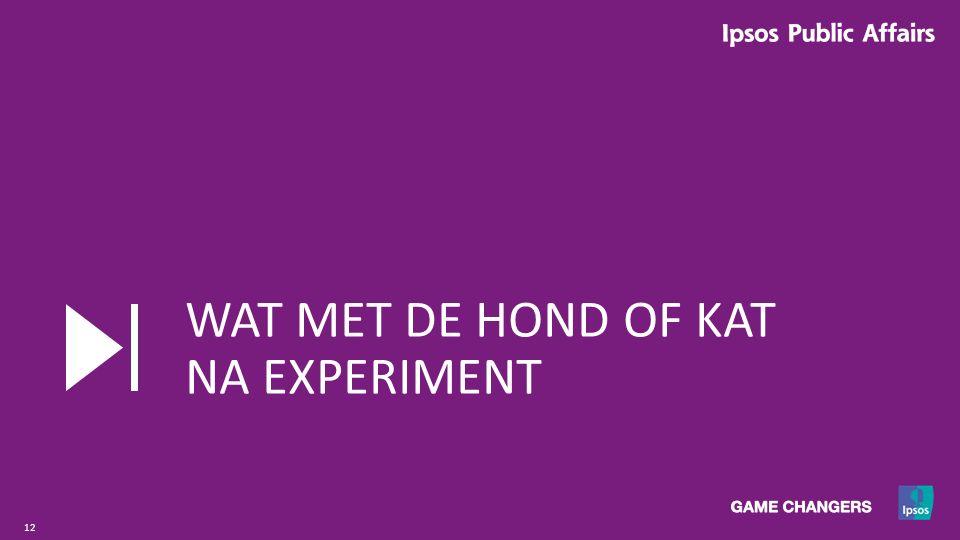 12 WAT MET DE HOND OF KAT NA EXPERIMENT