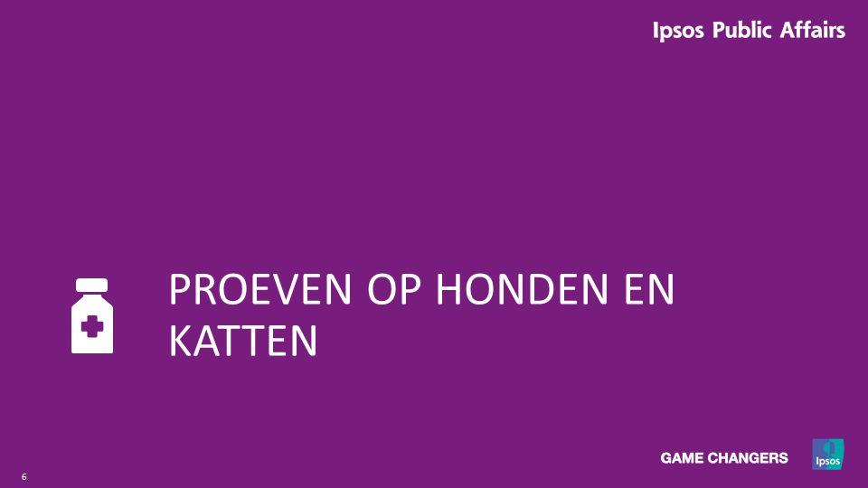 7 Base:Totale basis Vlaanderen (n=1503) Question:V1 Denkt u dat er in Vlaanderen proeven uitgevoerd worden op ….