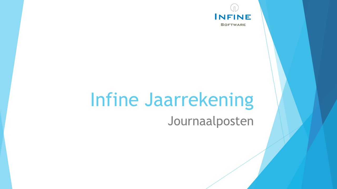 Infine Jaarrekening Journaalposten