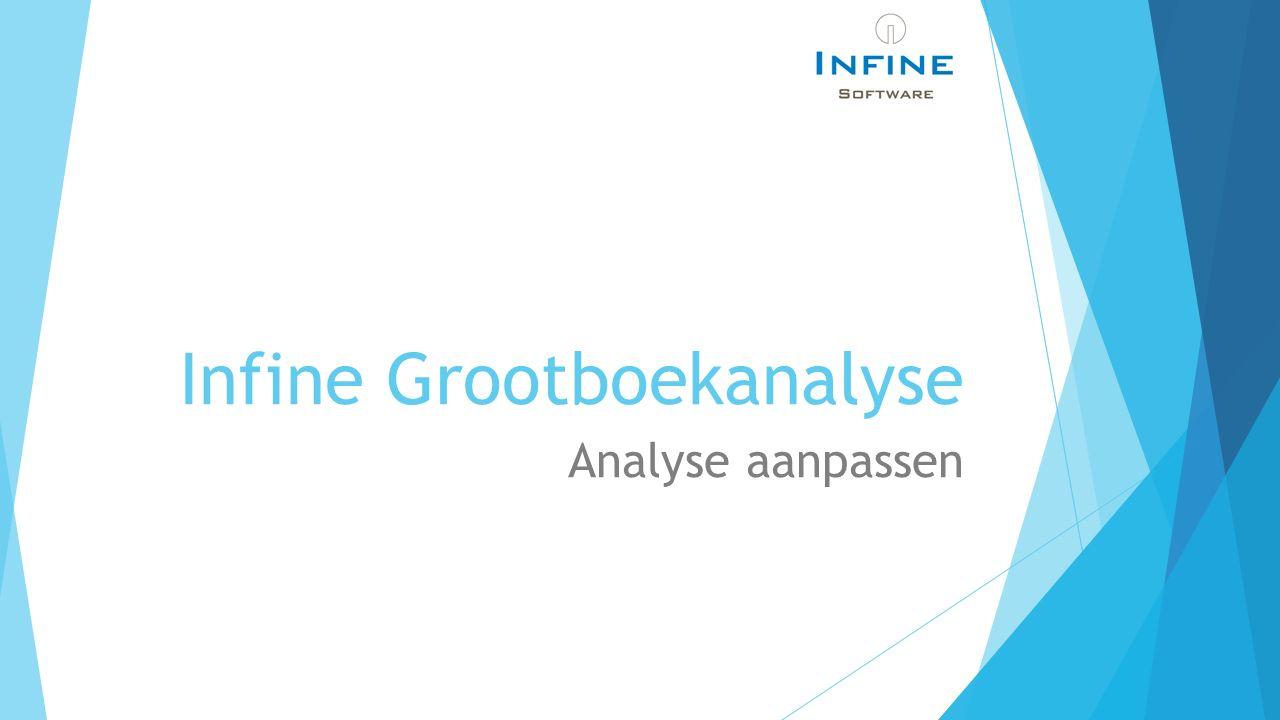 Infine Grootboekanalyse Analyse aanpassen
