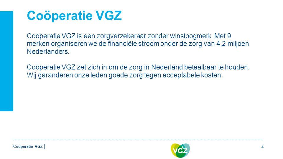 Coöperatie VGZ | Coöperatie VGZ Coöperatie VGZ is een zorgverzekeraar zonder winstoogmerk.