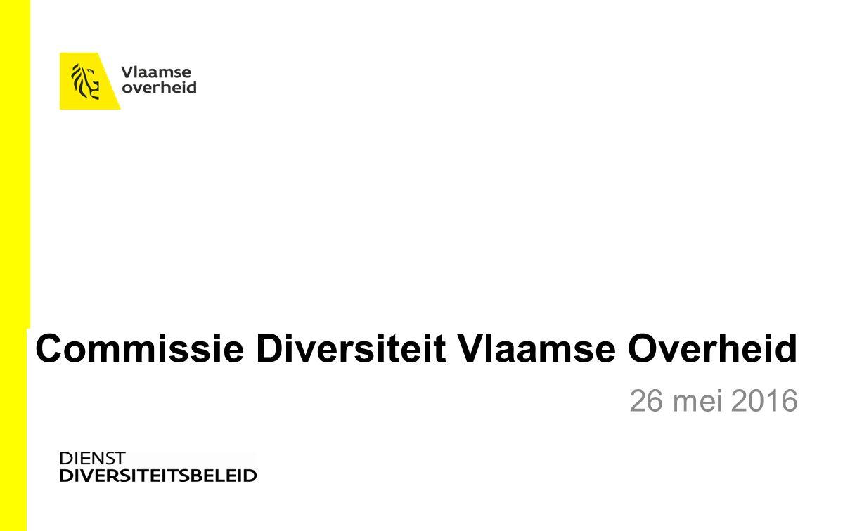 Commissie Diversiteit Vlaamse Overheid 26 mei 2016