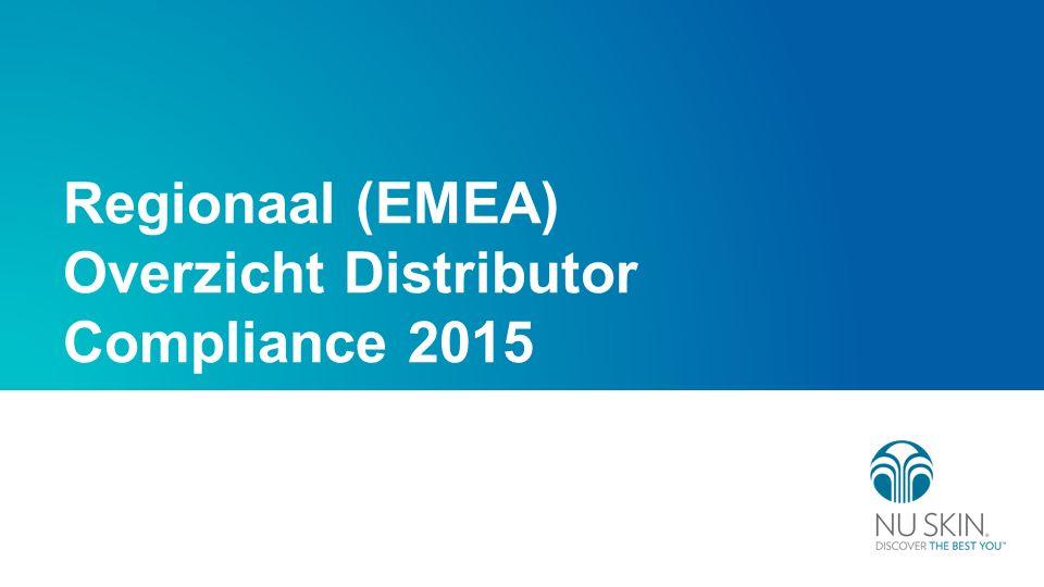 Regionaal (EMEA) Overzicht Distributor Compliance 2015