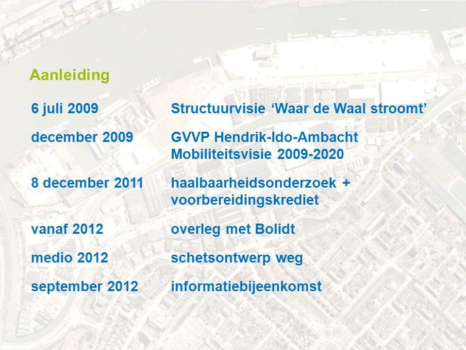.. november 2012 december 2009 GVVP Hendrik-Ido-Ambacht Mobiliteitsvisie 2009-2020 6 juli 2009 Structuurvisie 'Waar de Waal stroomt' september 2012inf