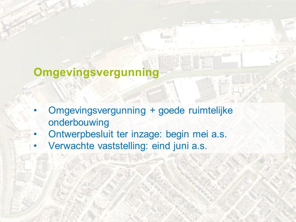 .. november 2012 Omgevingsvergunning + goede ruimtelijke onderbouwing Ontwerpbesluit ter inzage: begin mei a.s. Verwachte vaststelling: eind juni a.s.