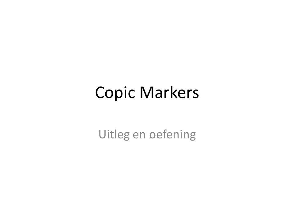 Copic Markers Uitleg en oefening