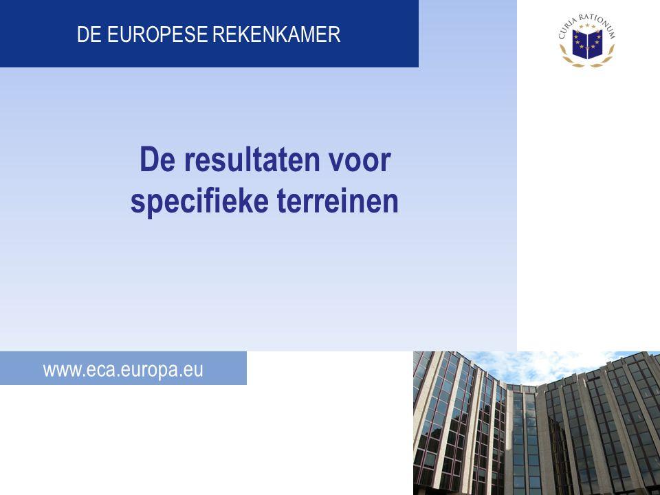 www.eca.europa.eu DE EUROPESE REKENKAMER De resultaten voor specifieke terreinen