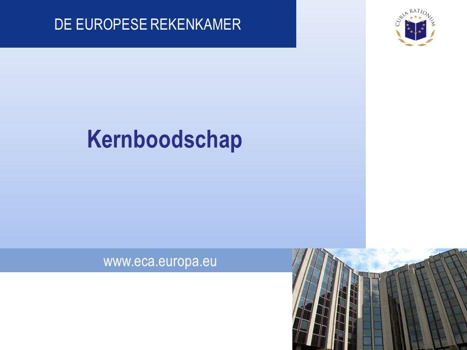 www.eca.europa.eu DE EUROPESE REKENKAMER Kernboodschap