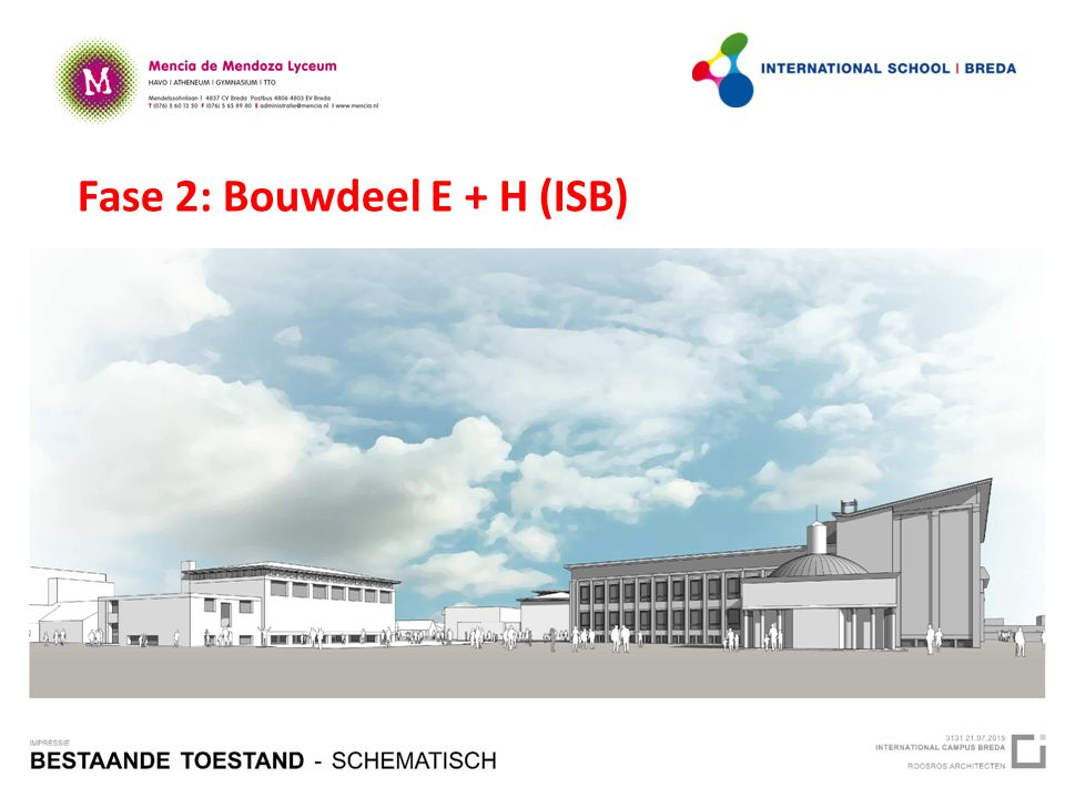 Fase 2: Bouwdeel E + H (ISB)