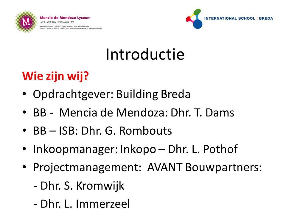 Introductie Wie zijn wij. Opdrachtgever: Building Breda BB - Mencia de Mendoza: Dhr.