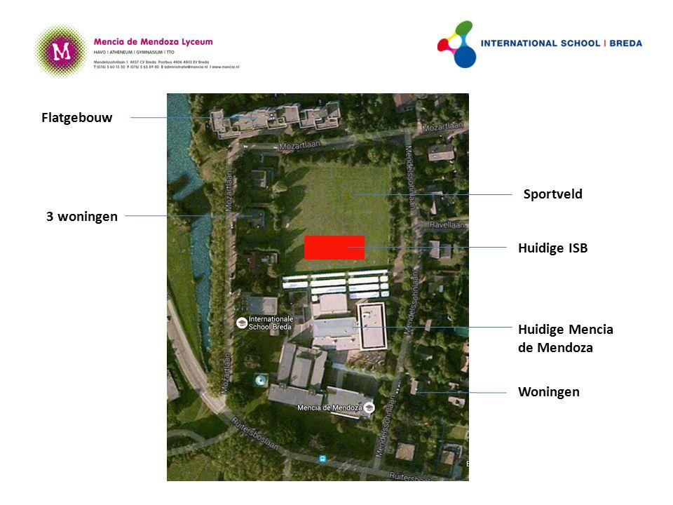 Huidige ISB Huidige Mencia de Mendoza Sportveld 3 woningen Flatgebouw Woningen