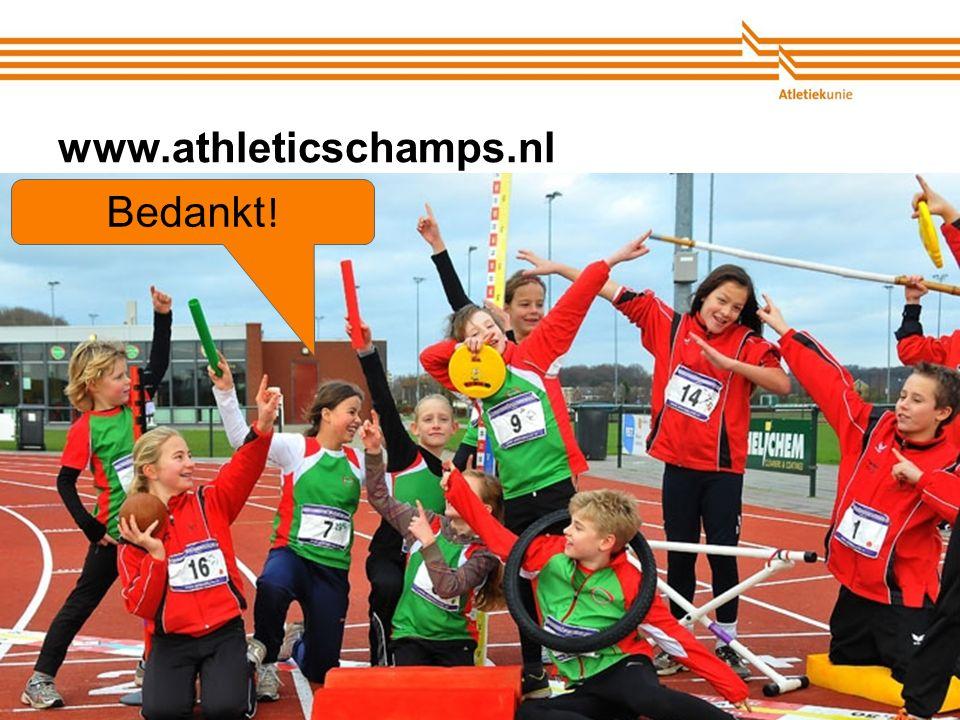 Atletiekunie www.athleticschamps.nl Bedankt !