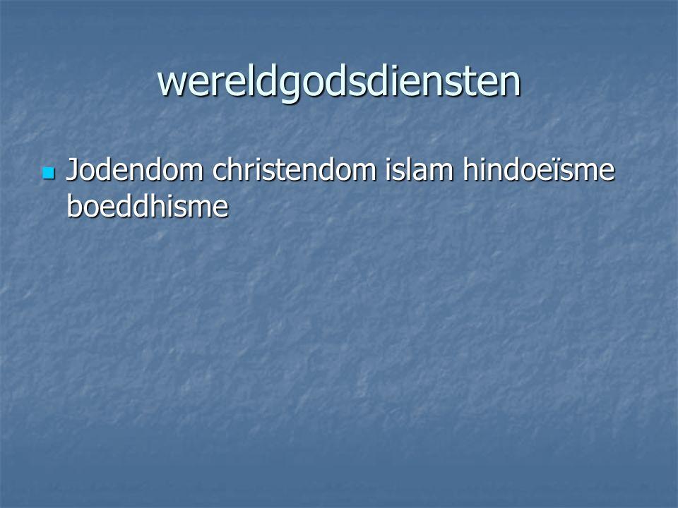 wereldgodsdiensten Jodendom christendom islam hindoeïsme boeddhisme Jodendom christendom islam hindoeïsme boeddhisme