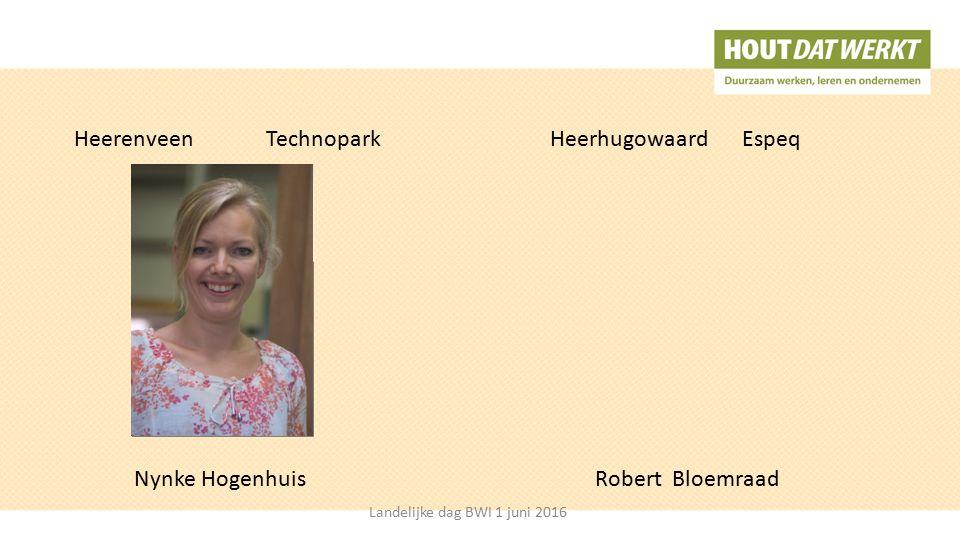 HeerenveenTechnopark Nynke Hogenhuis HeerhugowaardEspeq Landelijke dag BWI 1 juni 2016 Robert Bloemraad