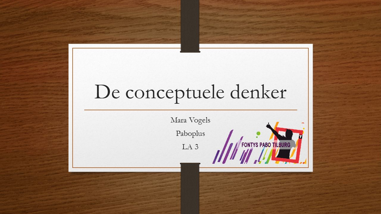 De conceptuele denker Mara Vogels Paboplus LA 3