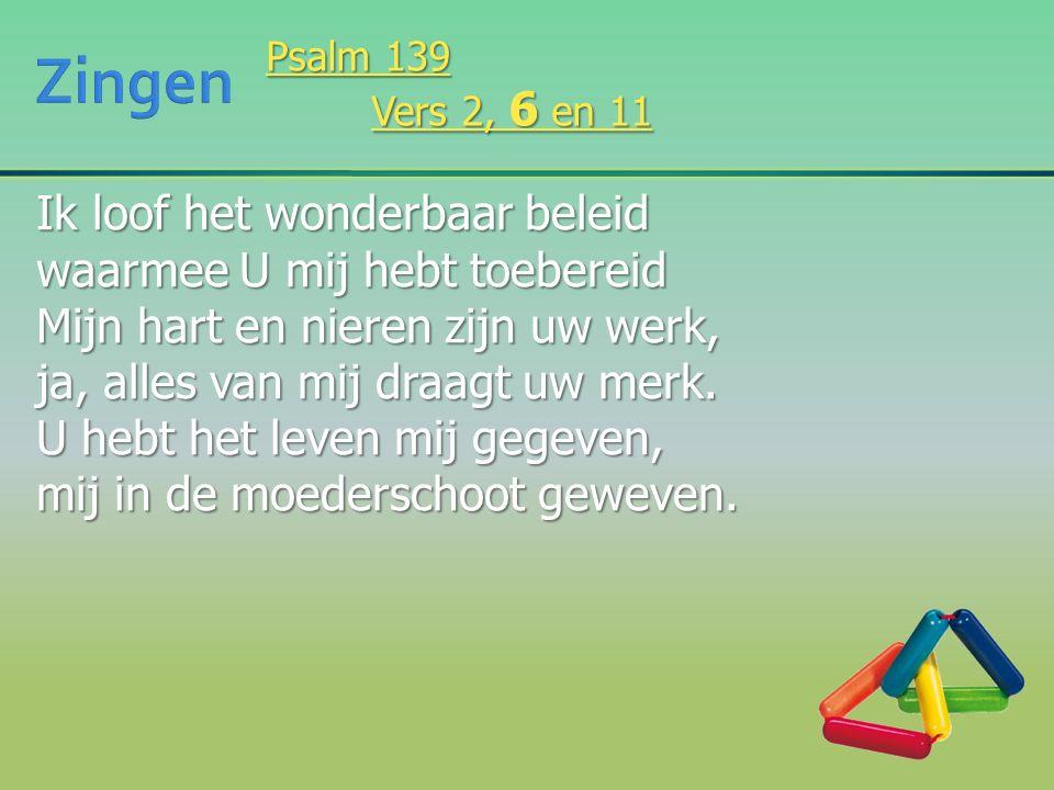 Doorgrond mij, ken mijn hart, o Heer.Zijn mijn gedachten tot uw eer.