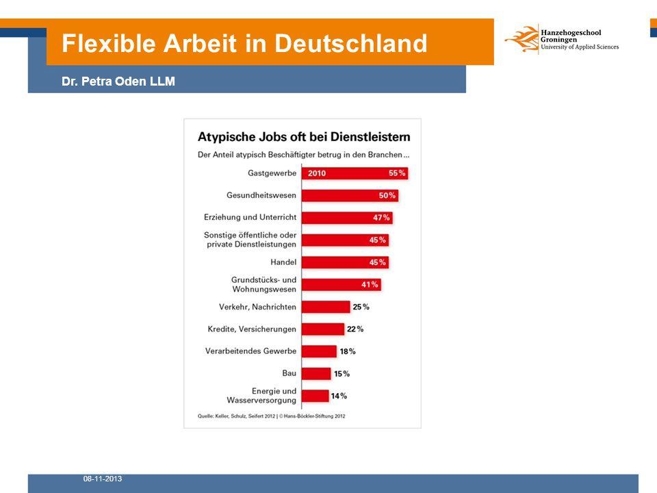 08-11-2013 Flexible Arbeit in Deutschland Dr. Petra Oden LLM