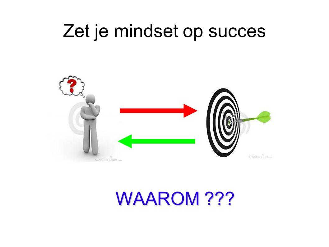 Zet je mindset op succes WAAROM