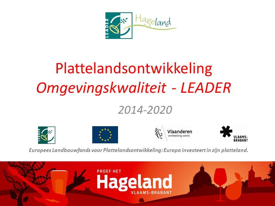 PDPOIII 2014-2020 Omgevingskwaliteit LEADER Plattelandsontwikkeling in Vlaanderen