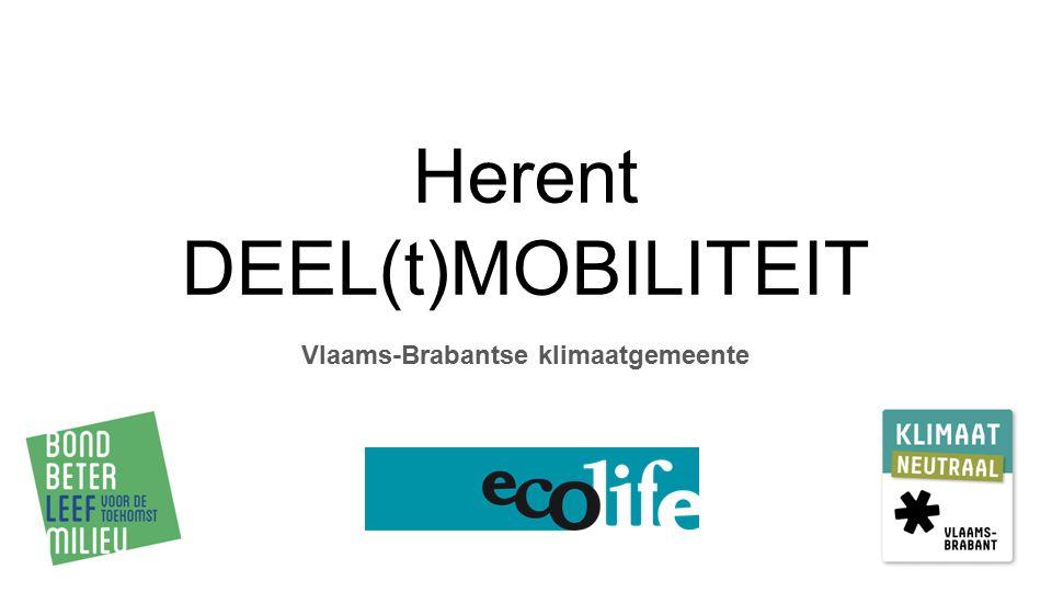 Herent DEEL(t)MOBILITEIT Vlaams-Brabantse klimaatgemeente