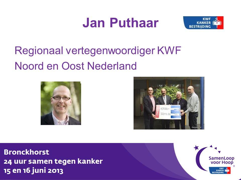 Jan Puthaar Regionaal vertegenwoordiger KWF Noord en Oost Nederland