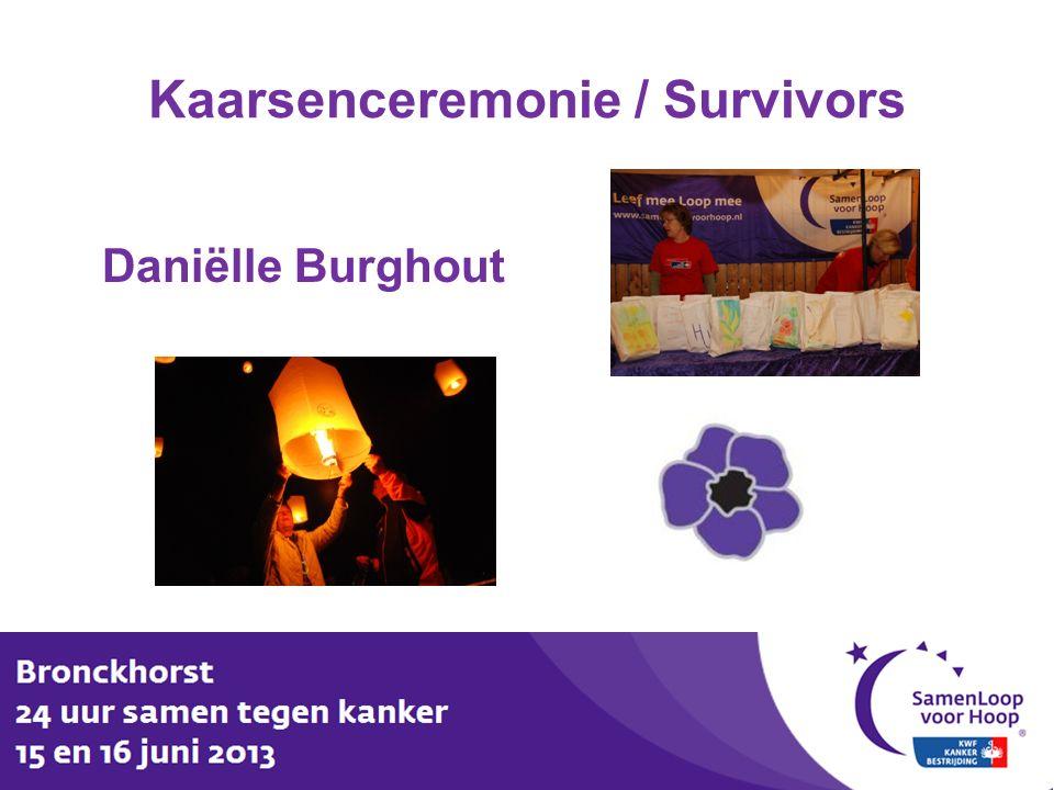 Kaarsenceremonie / Survivors Daniëlle Burghout