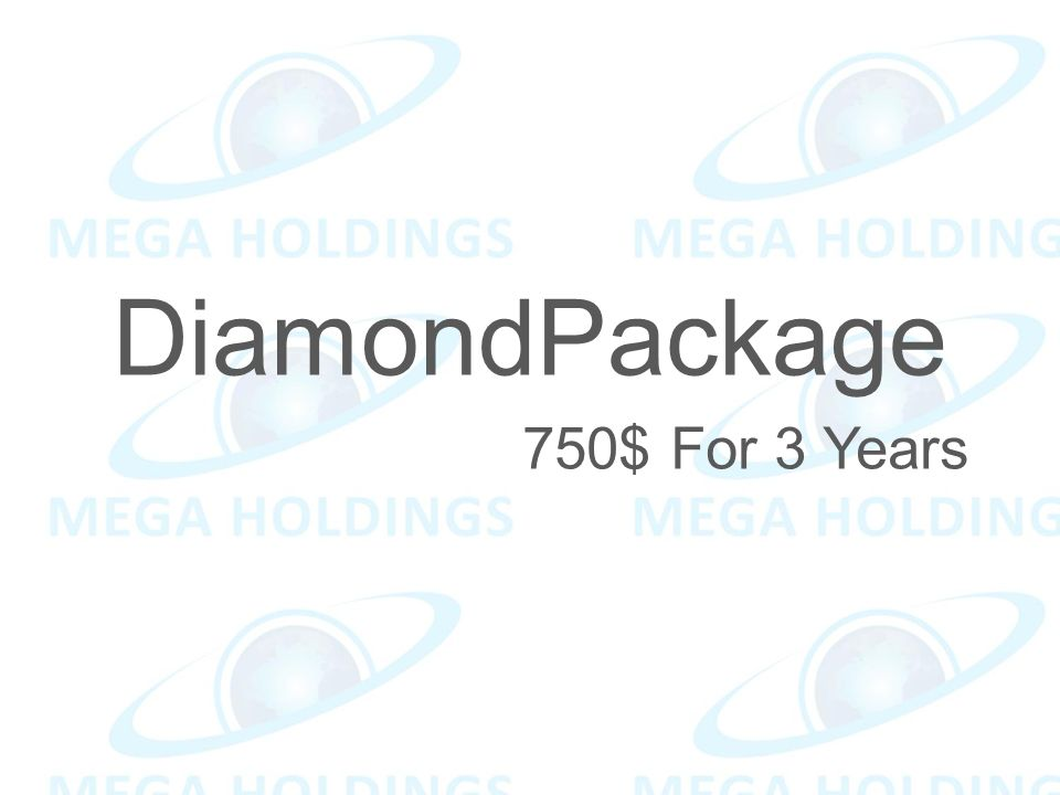 DiamondPackage 750$ For 3 Years