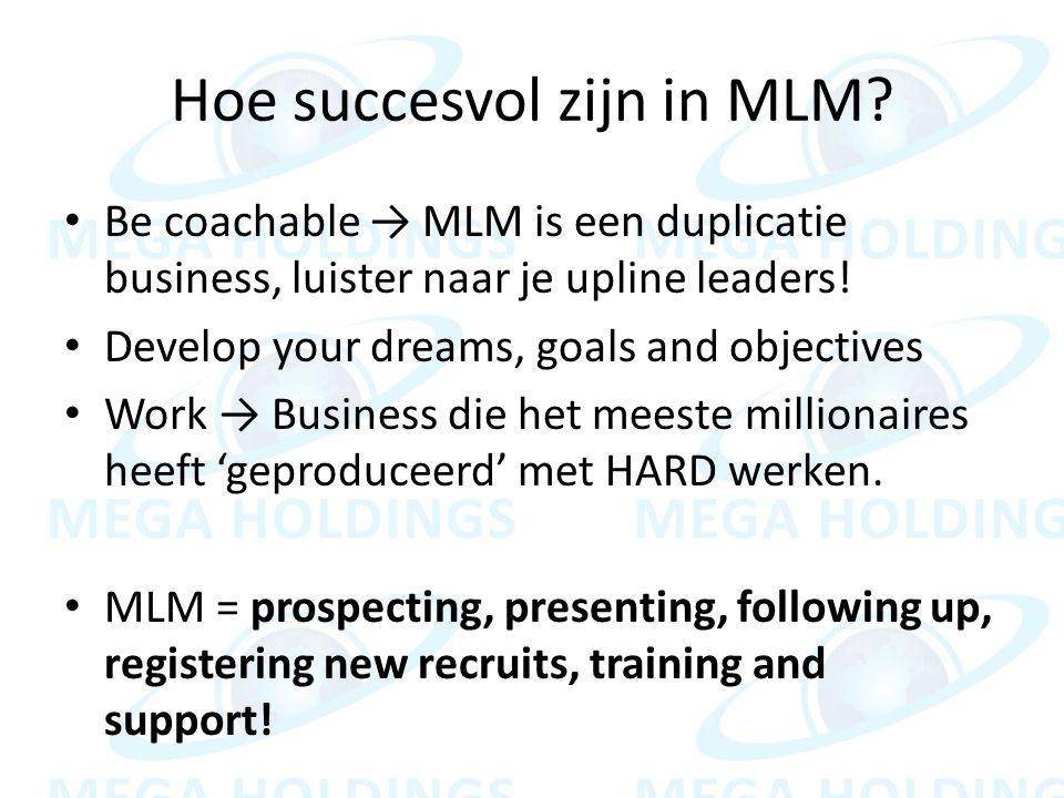 Hoe succesvol zijn in MLM.