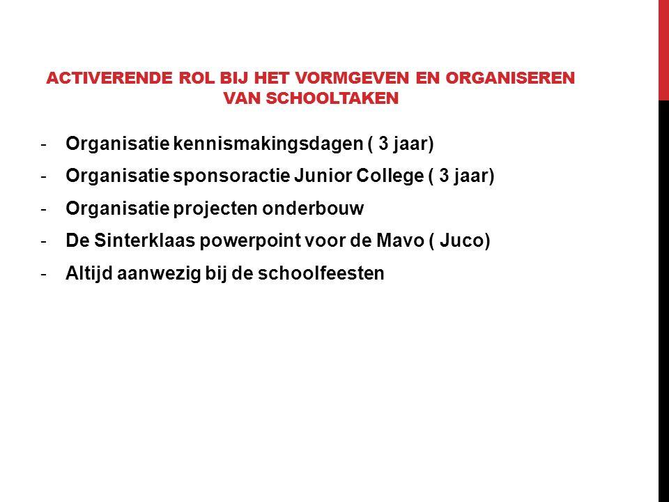 DOCENTEN AANSTUREN -Het organiseren en uitvoeren van de ELO scholing.