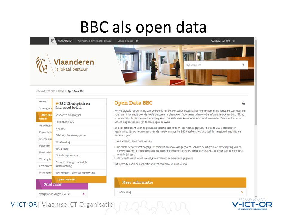 V-ICT-OR| Vlaamse ICT Organisatie BBC als open data