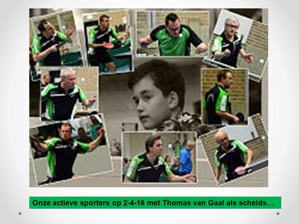 Onze actieve sporters op 2-4-16 met Thomas van Gaal als scheids…