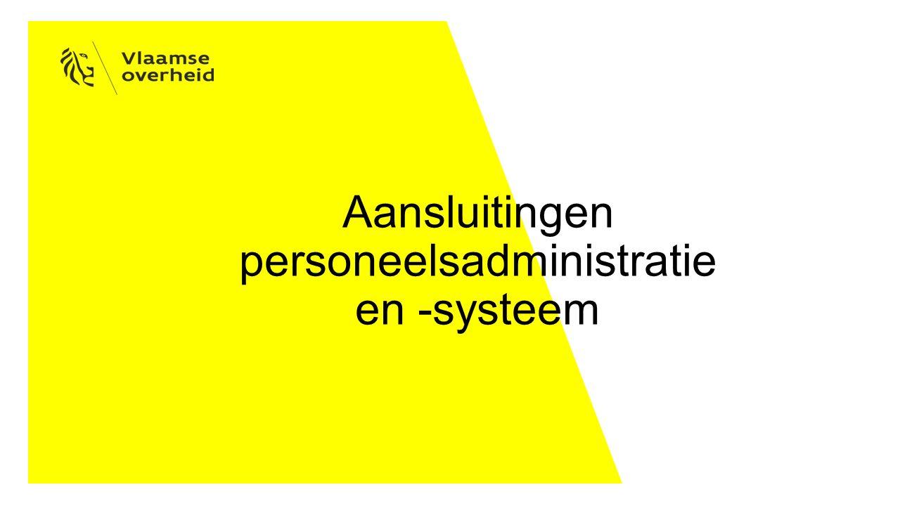 Aansluitingen personeelsadministratie en -systeem