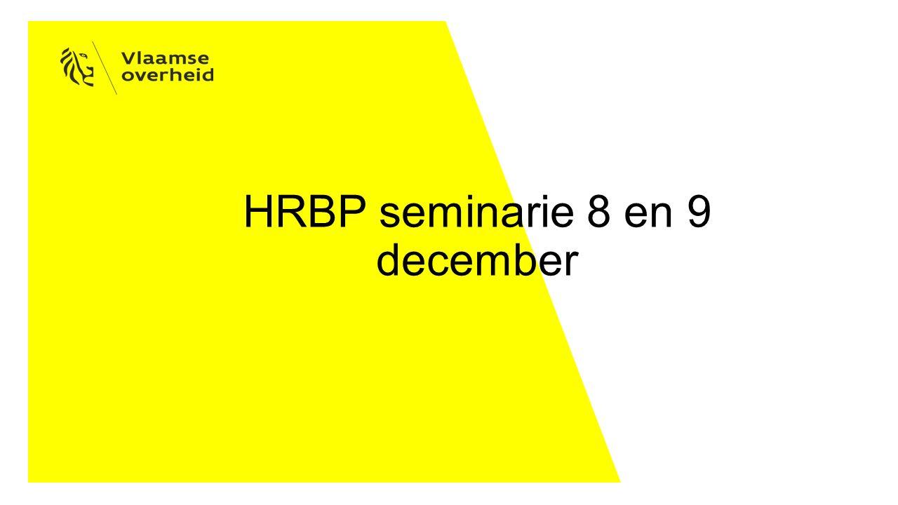 HRBP seminarie 8 en 9 december