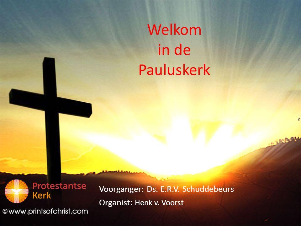 Welkom in de Pauluskerk Voorganger: Ds. E.R.V. Schuddebeurs Organist: Henk v. Voorst