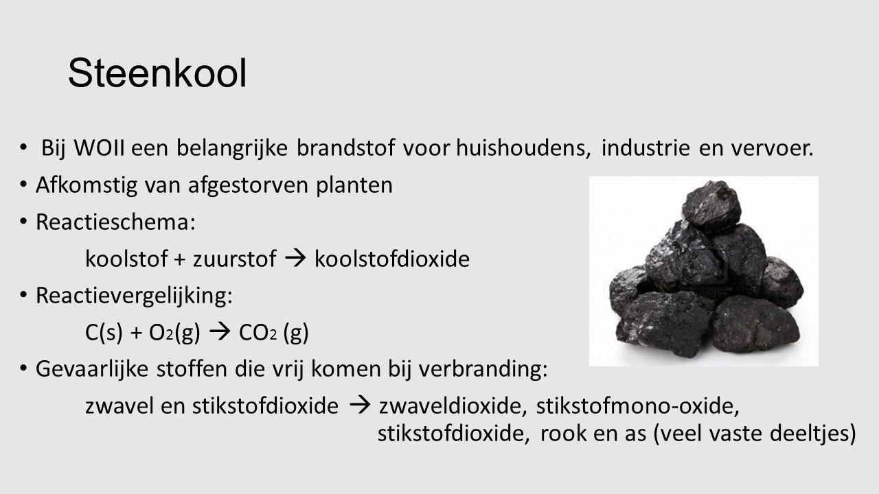 Aardgas Meeste huishoudens in Nederland draaien op aardgas Bestaat voornamelijk uit methaangas (CH 4 ) en stikstofgas Methaan: -brandbare bestanddeel van dit mengsel -Kleurloos -Reukloos Ook stikstofgas is kleurloos en reukloos Gasbedrijf voegt reukstof toe, als je bijvoorbeeld bij een gaslek iets ruikt