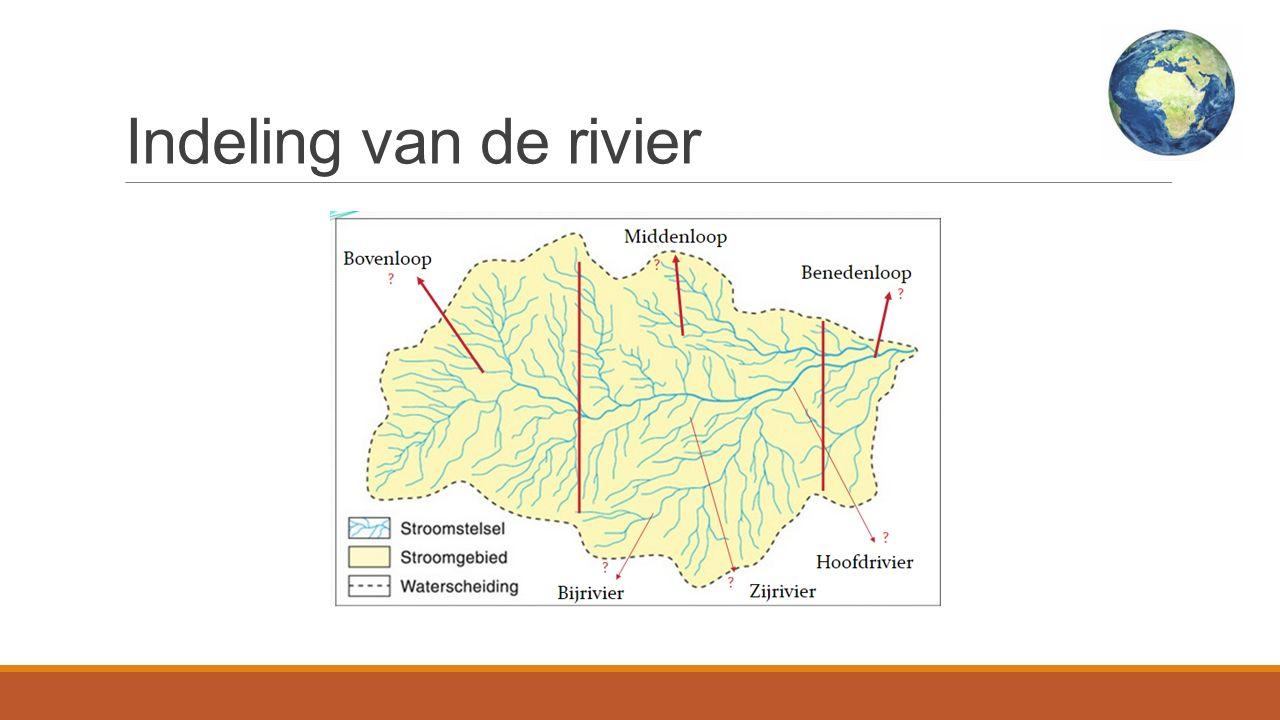 Indeling van de rivier