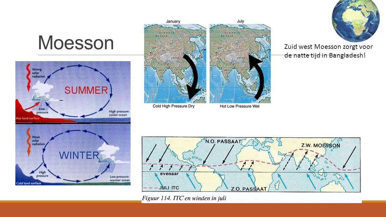 Moesson Zuid west Moesson zorgt voor de natte tijd in Bangladesh!