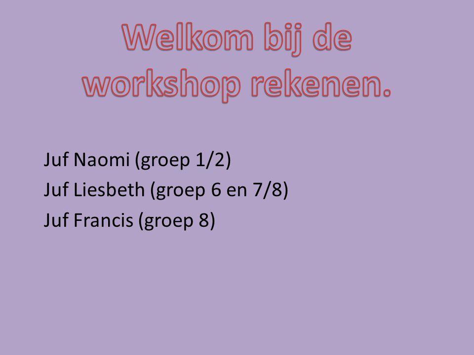 Juf Naomi (groep 1/2) Juf Liesbeth (groep 6 en 7/8) Juf Francis (groep 8)