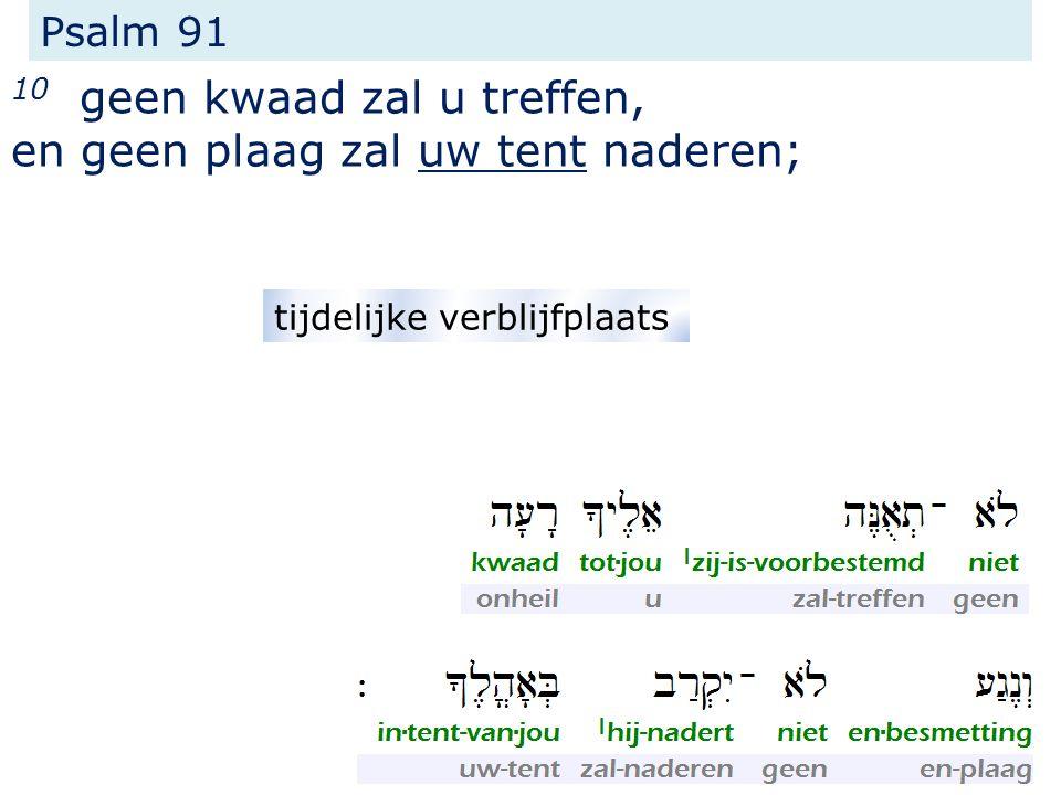 Psalm 91 10 geen kwaad zal u treffen, en geen plaag zal uw tent naderen; tijdelijke verblijfplaats